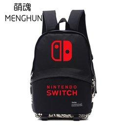 Wholesale 2018 Cool game console logo printing Switch BACKPACKS game fans gift school bag NS backpacks fans daily use bag NB205