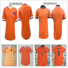 1997 1998 World Cup Netherlands Soccer Jerseys Orange 12 VAN BASTEN 10  Gullit 8 Bergkamp 1988 Holland Home Classic Vintage Football Shirt ccbf84f31
