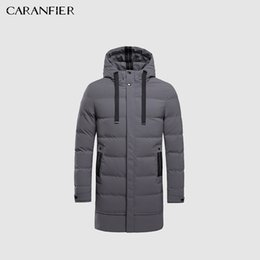Water Proof Coatings Australia - 2018 Winter Men Long Jacket Parkas Men Warm Casual Parka Coat Medium-Long Water Proof Thickening Hat Jacket Parka