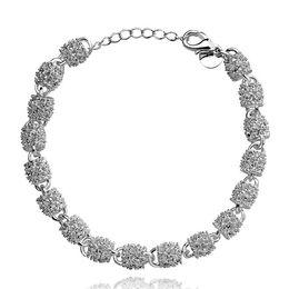$enCountryForm.capitalKeyWord Australia - Singapore ornament lock Bracelet sterling silver plated bracelet ; Brand new fashion men and women 925 silver bracelet SPB354