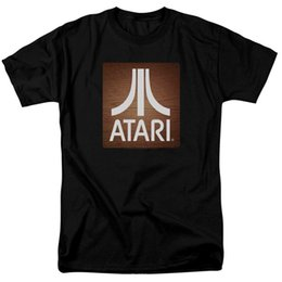 Chinese  Summer Short Sleeve Shirts Tops S~3Xl Big Size Cotton Tees Free Shipping Atari Classic Wood Square Licensed Adult T Shirt manufacturers