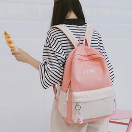 Japanese Style Backpack Harajuku Cute Words Pink School Backpacks For  Teenage Girls Kawaii Laptop Blue Back Pack School Bag 29faa4faf6b9