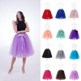 $enCountryForm.capitalKeyWord Canada - 6 Layers 50cm Fashion Midi Tulle Skirt Pleated TUTU Skirts Womens Wedding Bridal Bridesmaids Petticoat Short Skirts CPA1002
