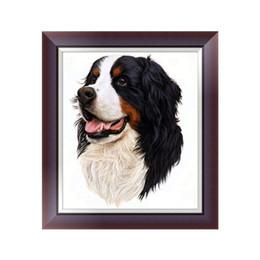 Round Mosaic UK - Pet dog 5D diamond painting DIY diamond embroidery cross stitch mosaic square round rhinestone 3D picture mural animal gift decoration
