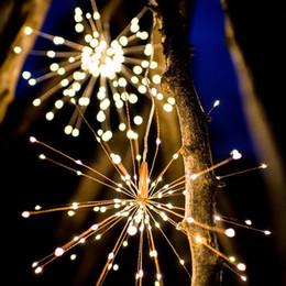 Discount mushroom pendant light - Holiday Lighting 200led 40 Branches 5led Branch 20cm Outdoor String Light Twinking Star Flashing Wireless Firework Hangi
