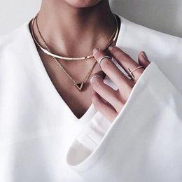 womens gold charm 2019 - Womens Gold Big Circle Choker Necklace Enamel e Pendant Chain Charming Jewelry #93177 discount womens gold charm