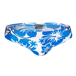 Chinese  Austinbem Brand Sexy Men Swimwear Low Waist Beach Surf Swim Wear Mens Swimming Trunks Gay Penis Pouch Summer Male Swim Briefs manufacturers