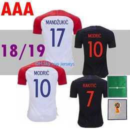 design football jerseys UK - 2018 Designed for home away Soccer Jersey MODRIC PERISIC RAKITIC MANDZUKIC SRNA KOVACIC Red KALINIC Hrvatska Football Shirt