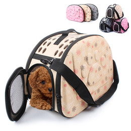 Large Housing NZ - Dog Carrier Puppy Portable Travel Tote Pet bag EVA bags Shoulder Breathable Outdoor Backpack Folding Comfortable Zipper Pet House Large Size