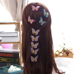 Indian wedding decoration accessories online indian wedding 6 colors 4cm double layers butterfly lace hairpin barrettes wedding decoration centerpieces hair accessories for women mothers day gifts junglespirit Choice Image