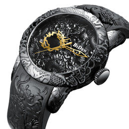 Glasses Trade Australia - Genuine high-end explosions foreign trade fashion dragon watch men 3D comfort watch