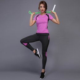 $enCountryForm.capitalKeyWord Canada - 2 Pieces Women Yoga Set Reflective Safety Gym Fitness Clothes Tennis Shirt Pants Running Tights Jogging Workout Yoga Leggings Sport Suit