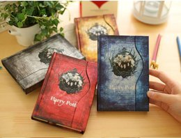 $enCountryForm.capitalKeyWord NZ - Vintage Harry Potter notepads Retro paper Magic Diary Book Notepad Magnet Notebook office school supplier student paper notebooks