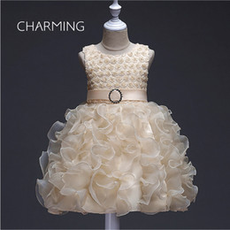 3d girls pictures Australia - Child pettiskirt dress 3d floral wedding dress Short prom dresses Vintage dress Children's performance clothing Fiesta fashion dresses