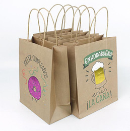 $enCountryForm.capitalKeyWord Australia - Kraft paper bag with handle carton series NO.4 for shop clothes book gift packing mini order 3 dozens (4 mixed pattern) free shipping by DHL