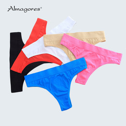 eb533bfc531 Woman Underwear Women s G String Thongs Sexy Panties Briefs Solid Low Rise Girls  Ladies Knickers Intimates for Women (3 pcs lot)