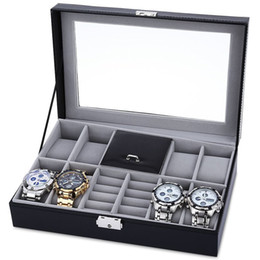 $enCountryForm.capitalKeyWord NZ - Wholesale-8 Grids + 3 Mixed Grids Watch Case Luxury Jewelry Decoration Storage Display relogios Box PVC Watch Box Case Leather Gift Boxes