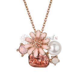 $enCountryForm.capitalKeyWord UK - Yoursfs new Fashion Metal Flower&Crab Necklace Pendant Jewelry