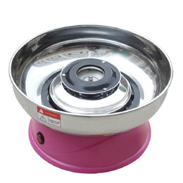 Discount candy floss machines - Small Electric Fairy Floss Sugar Cotton Candy Machine Pink Color Stainless Steel Bowl 420W 220V Brand New