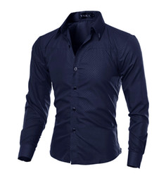 Wholesale dress shirt mens resale online - Hombre Vestir Dress Shirts Casual Slim Fit Mens Shirt Chemise Homme Men Shirt Solid Mesh Heren Hemden Camisa Masculina XL
