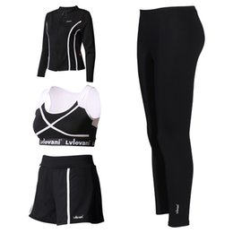 $enCountryForm.capitalKeyWord Canada - Top Quality Fitness Women Yoga Set Hollow Bra & Pants & Jacket Shorts Gym Clothes Sport Wear Running Outdoor Jog
