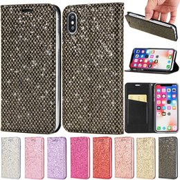 samsung s5 leather cases NZ - Magnetic Bling Flip PU Leather Wallet Case For iPhone X 8 7 6 6S 5 SE Samsung S5 S6 S7 Edge S8 S9 Plus Note A3 A5 A7 J3 J5 J7 2017 A8 2018