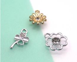 Lucky cLover charms online shopping - 10pcs clover Charm Oil Drop Zinc Alloy Colourful Lucky clover and flower Charm Pendants