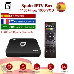 sports tv iptv Canada - GOTiT French Spain IPTV Box S905 Android TV Box 4K HD Smart TV Box + Procaja Dutch Germany Italy African Sports IPTV better than QHDTV