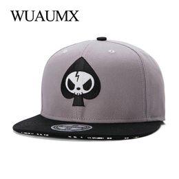 flat brim panel hats 2019 - Wuaumx Fashion 5 Panel Bone Snapback Cap For Men Women Spades Casual Hip Hop Baseball Caps Flat Brim Skateboard Hat Casq