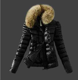 $enCountryForm.capitalKeyWord Canada - Woman Down Jackets Slim lightweight duck down jacket With collar Female Clothes Real Raccoon Fur Collar Hood Down