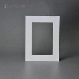 free photo picture frames 2019 - White Acid Free Cardboard Bevel Cut Mounting Photo Easel Mat for 4X6 Pictures Wedding Party Decoration Picture Frame Fot