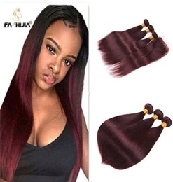 $enCountryForm.capitalKeyWord Australia - Burgundy Brazilian Straight Hair 99j Brazilian Hair Extension With Lace Closure Red Human Hair 3 Bundles 18inch With 16inch Closure Can Dyed