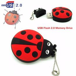 4gb flash drive free shipping online shopping - Fashion Ladybug usb flash drive disk mini Beetle gift memory stick pendrive gb gb gb gb ladybird Pen drive personalized