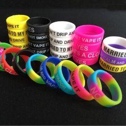 $enCountryForm.capitalKeyWord NZ - Colorful Non-Slip Silicone Rings for e Cigarette Mod Vapor Silicone Band rubber vape rings e cig silicon vape band