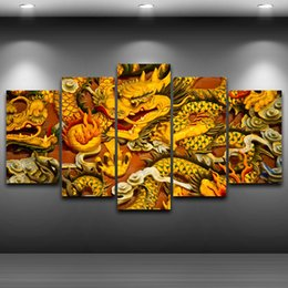 cartoon chinese dragons NZ - HD Printed 5 Piece Canvas Art Chinese Dragon Canvas Painting Wall Pictures for Living Room Home Decor Free Shipping CU-3048C