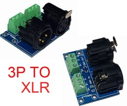 Discount xlr controller - 1pcs lot XLR3-3P XLR TO 3P DMX512 Relays led connector use for DMX 512 LED decoder controller Free shipping
