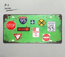 $enCountryForm.capitalKeyWord UK - DL-STOP WARNING BOARD License plate Metal sign garage home outdoor wall plaques