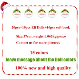 Kids Christmas Books NZ - Fast Shipping 15 Style Christmas Elf Doll Plush toys Elves Xmas dolls and Soft Back Books on the shelf For Kids Holiday Christmas Gift