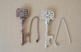 $enCountryForm.capitalKeyWord Australia - Bottle Openers Key Shape Bottle Steel Bronze Keychain Antique Retro Opener silver copper colors 4 styles Useful Kitchen Tools