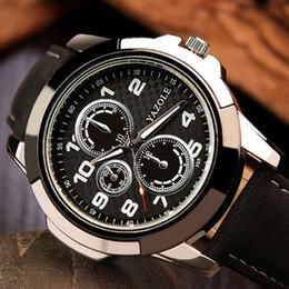 Men Sports Racing Watch Australia - Lmitation 6 needle three eye racing non mechanical men's sports watch quartz watch creative watch men