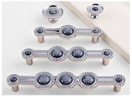 Fashion drawer handles modern online shopping - 160mm modern fashion creativity sliver gold kitchen cabinet cupboard door handle Marble pattern ceramic dresser drawer knobs quot