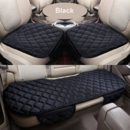 Sets Velvet NZ - Winter warm car seat cover soft velvet Car Seat Cushion front back car chair pad universal size 3pcs set