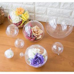 $enCountryForm.capitalKeyWord NZ - Clear Plastic Balls - Bath Bomb Mold Set - Craft Plastic Ornaments Christmas Hollow Ball Fillable DIY Bath Bombs Ornament Wedding Decoration