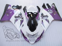 Gsx K5 Australia - Black white purple fairing kits FOR SUZUKI GSXR600 GSXR750 2004 2005 K4 K5 GSXR 600 750 04 05 GSX-R600 GSX-R750 fairings #44521 +gifts