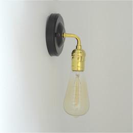 Diy Lamps Industrial UK - Industrial Antique Loft Retro Vintage Iron Wall lamp Edison Lamp New DIY Wall Lamps E070