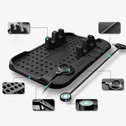 Gizcam Multi-funktionale magnetische Silikon Anti-Rutsch-Matte Auto Handy-Ladegerät Halter