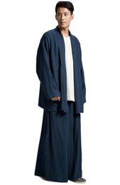 846ebf725fc Buddhist clothing online shopping - ZanYing Buddhist Monk Meditated Clothing  Sets Plus Size Men Yoga Taichi