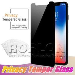 Discount screen protector spy - For iPhone XS Max Privacy Screen Protector Case Friendly 9H Tempered Glass Anti-Spy Screen Anti-Scratch For iPhone XR X