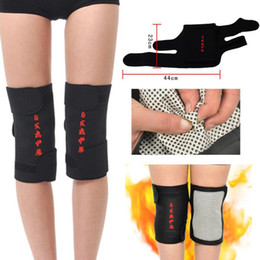 40f99b7faf Wholesale- 2 Pcs tourmaline health care magnetic therapy self-heating knee  pads knee support protection