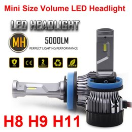 install light bulb NZ - 1 Set H8 H9 H11 60W 5000LM Mini LED Headlight Small Volume Size CSP Chips Turbo Fan Pure White 6000K Driving Front Lamps Bulbs Easy Install